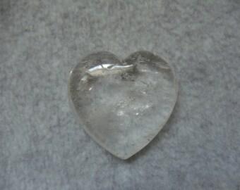 Clear Quartz Puffed Heart Clear Quartz Crystal Heart Rock Crystal Stone Heart (CRYH-CQ-XL)