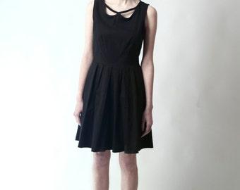Cut Out Collar Little Black Dress