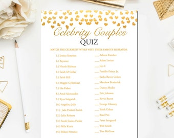 Guess the Celebrity Couples Quiz - By ladyamie