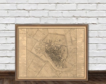 Ferrara map - Old map of Ferrara - fine reproduction