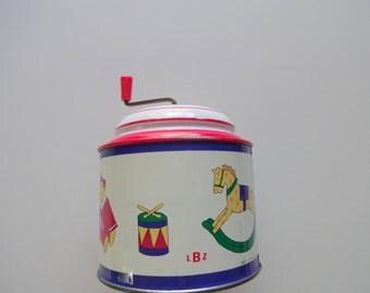 Vintage Tin Music Box by Lorenz Bolz 1987