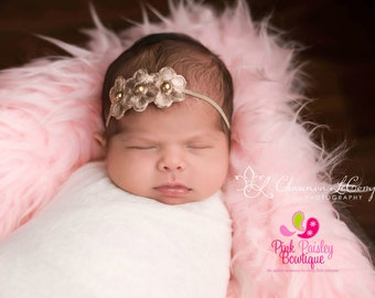 gold baby headband baby hair accessories newborn headband