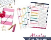 Meals. More Organized. - Meal Planning, Grocery List, Pantry/Refrigerator/Freezer Inventory and Recipe Cards Digital File