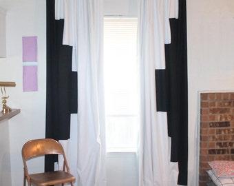 Aztec Geometric modern curtain panels MULTIPLE COLORS