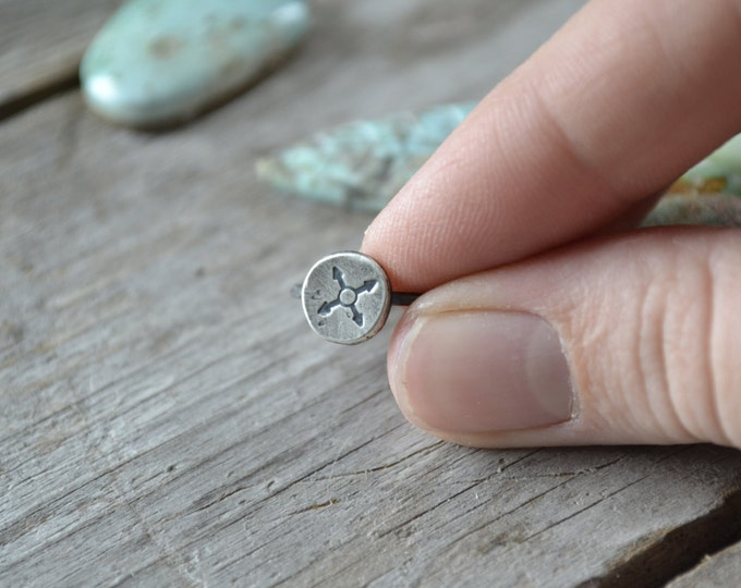 stamped stacking ring, 925 sterling silver jewelry, totem ring, compass jewelry, stamped symbol ring, bohemian jewelry, summer festival ring