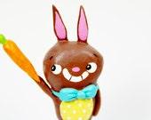 Chocolate Easter Bunny Figurine
