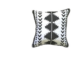 SALE: Charcoal Tribal cushion cover 45cm x 45cm