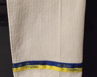 DISCONTINUED - Boston Strong decorative kitchen towel.