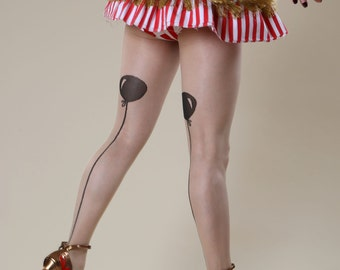Seamed Balloon Tights