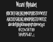 Harry Potter Alphabet, Harry Potter Font, Wizard Font, SVG Fonts, Harry Potter Svg, Silhouette Svg, Cricut Cutting files, Digital Cut Files