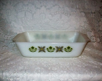 Vintage 1 Qt Bread Loaf Pan Meadow Green #441 Fire King by Anchor Hocking Only 7 USD