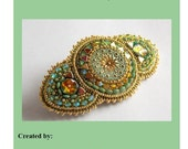 Tutorial ,Pattern, Bead embroidery ,Beading pattern , Instructions only , Jaipur barrette ,