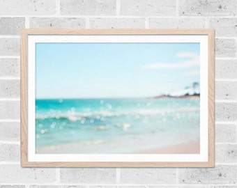 tropical wall art abstract landscape abstract wall art beach decor ocean print bokeh photography beach abstract art fine art photography