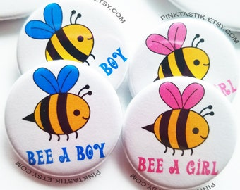 20 Bee baby shower buttons, bee buttons, Bee theme shower, Bee baby shower, Bee party, Mom to Bee, Dad to Bee, bee pins, bee gender reveal