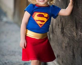 Girl Supergirl Costume - Baby Girl Supergirl Costume - Girl Halloween Costume - Baby Girl Halloween Custome Super Hero 2T 3T 4T 5 6