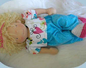 Waldorf Inspired BabyJem by Jemilynndolls with two outfits...