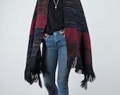 Scarf pashmina, Woven Scarf Merino Wool, Cozy Wrap Multicolor, Wool shawl large