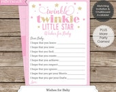 Twinkle Twinkle Little Star Wishes for Baby - Instant Download - Twinkle Twinkle Baby Shower - Twinkle Star Baby Shower Wishes for Baby
