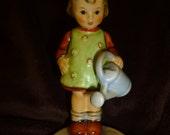 Hummel Figurine Little Gardener Vintage 1980s Germany Original Box
