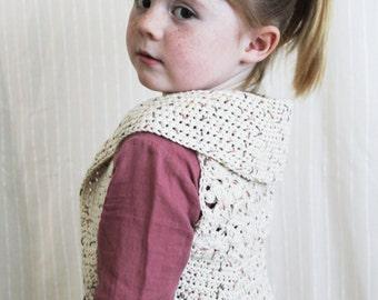 Crochet Pattern: The Summer Vest-3 Sizes Included Toddler, Child, Adult Small/Med-spring, daisy, flower, shrug, sleeveless