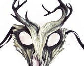 Reserved for kry 13 - Wendigo/Forest Spirit Leather Mask