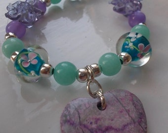 Fresh floral necklace.
