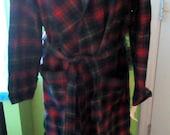Vintage Unworn Pendleton Maclennan Scottish Tartan Plaid Virgin Wool Robe Original Tags AS IS Vintage Clothing Sleepwear cabin