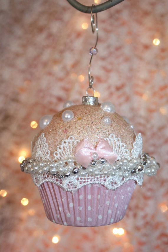 Shabby Cottage Chic Pink Cupcake