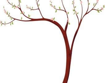 Cherry Blossom tree decal- vinyl wall decal- Tree decal- Nursery walls
