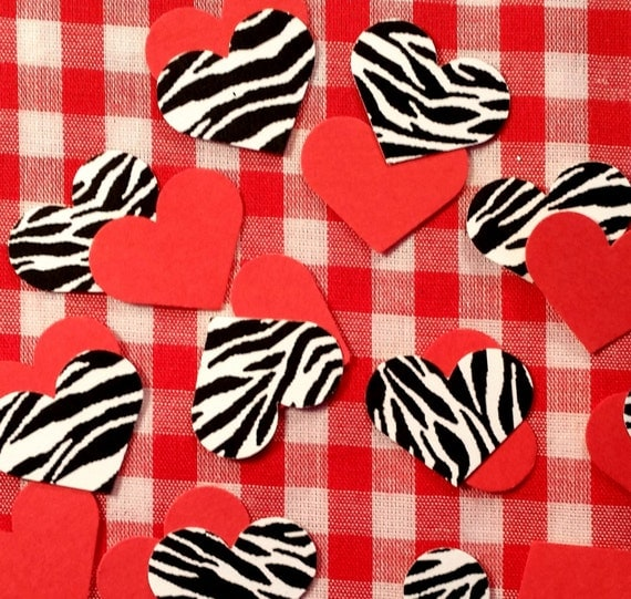 zebra print heart coloring pages - photo #35