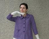 ON SALE: Vintage Cotton Knit Jacket, S-M