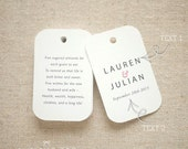 Sugared Almonds Personalized Gift Tags - Jordan Almond Favor Tags - Wedding Favor Tag - Wedding Bomboniere - Set of 24 (Item code: J552)