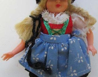 Vintage German  celluloid Doll Schwarzwald Bavaria For parts Doll Parts Doll making