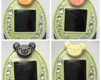 Cute Kawaii Teddy Bear Chocolate Tamagotchi P's Decorative Pierce