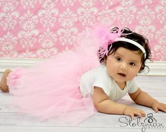 Pink Baby, Toddler Tutu BABY GIRL Light Pink Ballet Tutu Skirt, 1st Birthday, Toddler, Baby Photo Prop, For Baby to Girls