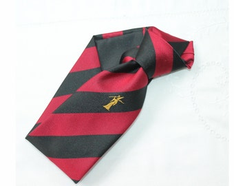 Vintage wizard necktie. Wizard tie. barber stripe tie
