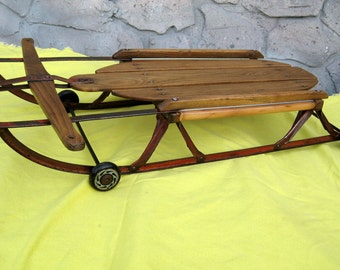 Skateboard Old School Sled Flexi Racer 1940s skateboard Yankee Clipper sled with wheels