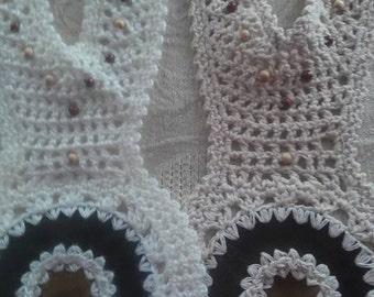 Yoke Set of 2 Collar Cotton Jewelry Crochet Crafts Projects