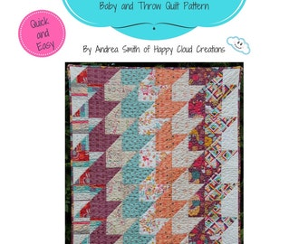 All About Arrows Quilt Pattern, Baby / Toddler size, Throw Size, Quick, Easy, Beginner pattern