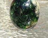 Sea Burst - handmade art glass paperweight