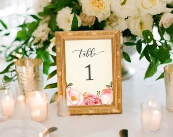 Romantic Floral Table Numbers (Printable) DIY by Vintage Sweet