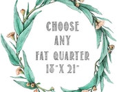 ANY Single Fat Quarter, Thistle and Fox Printed Cotton Fabric for Textile Crafts and Quilting