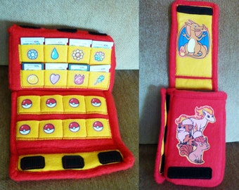 Case for DS/3DS/XL + 16 Games - One Size Fits All! Fire Pokemon Version