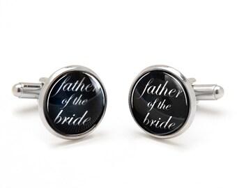 Father of the Bride Cufflinks - Bride to Father Wedding Gift - Sentimental Keepsake Gift for Dad - Wedding Cufflinks
