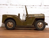 Tonka US Army Jeep Metal and Plastic Military Toy