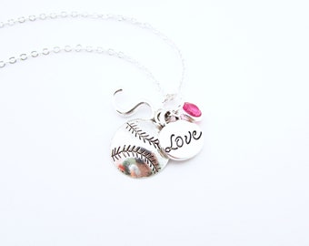 Softball Necklace, Softball Gifts, Girls Softball Gift, Gifts for Softball, Softball Jewelry, Softball Player