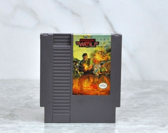 Vintage Operation Wolf Take No Prisoners Nintendo Game (NES) 8 bit By Taito 1987 - Hostages - Concentration Camp - Village - Communication