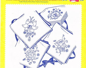Vintage Aunt Martha's, Hot Iron, Transfers, Colonial Patterns, RETIRED, 3605, Posies For Linens, Embroidery, Sewing, winterparkcollect