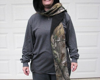 Hooded Scarf, Camo Scarf, Fleece hooded Scarf, Scoodie, Reversible Hooded Scarf, Fleece Scarf, Reversible Fleece Scarf, Fleece Scoodie,