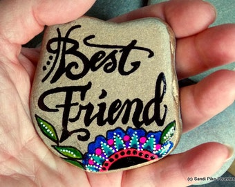 best friend / bff / painted rocks / painted stones / friendship gifts / friendship / rocks / stones / gifts for friends / boho gifts